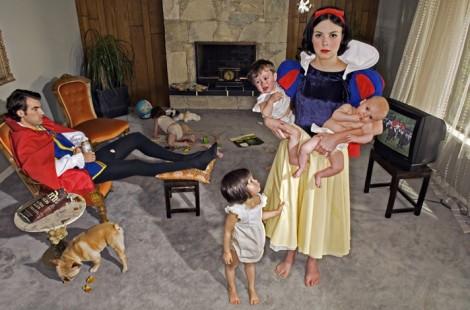 Branca de Neve e sete filhos!